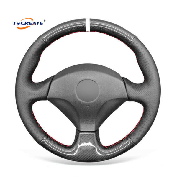 DIY Carbon Fiber PU Leather Steering Wheel Cover for Honda S2000 Civic SI #2515 $39.99