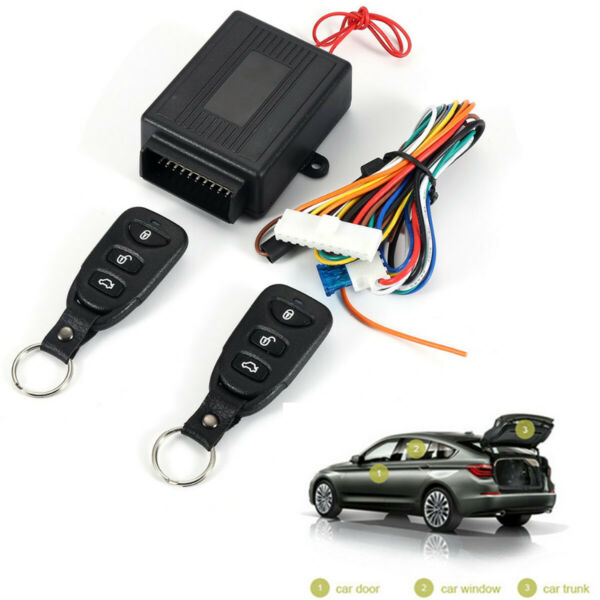 Car Remote Central Kit Door Lock Locking Keyless Entry System With 2 Controllers $20.60