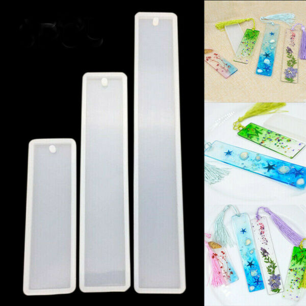 Rectangle Silicone Bookmark Mold DIY Making Epoxy Resin Jewelry Craft Mould SK C $2.24