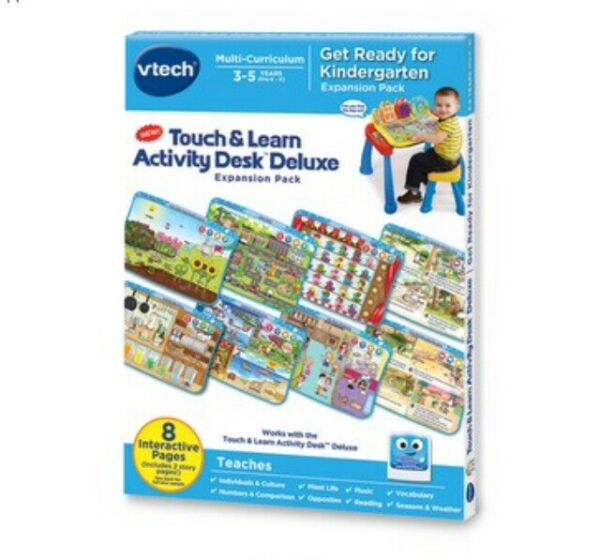 VTech Touch amp; Learn Activity Desk Expansion Pack Get Ready for Kindergarten***