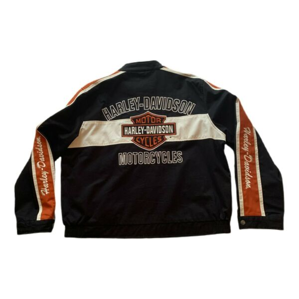 HARLEY DAVIDSON Embroidered Heavy Cotton Lined Motorcycle Jacket Men's XXL Coat $174.99