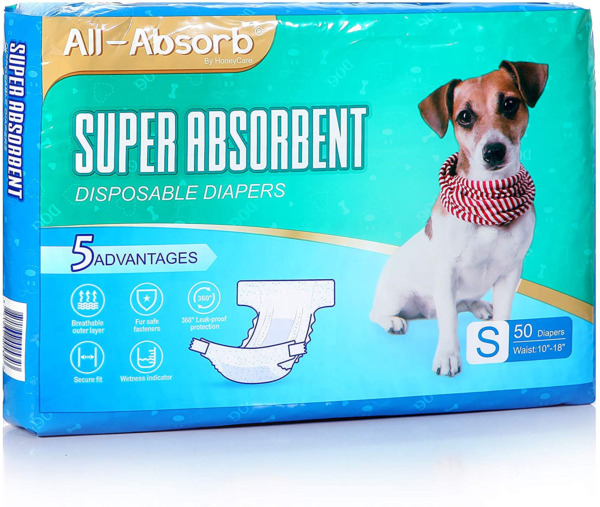 All Absorb Disposable Female Dog Diapers Small $24.33