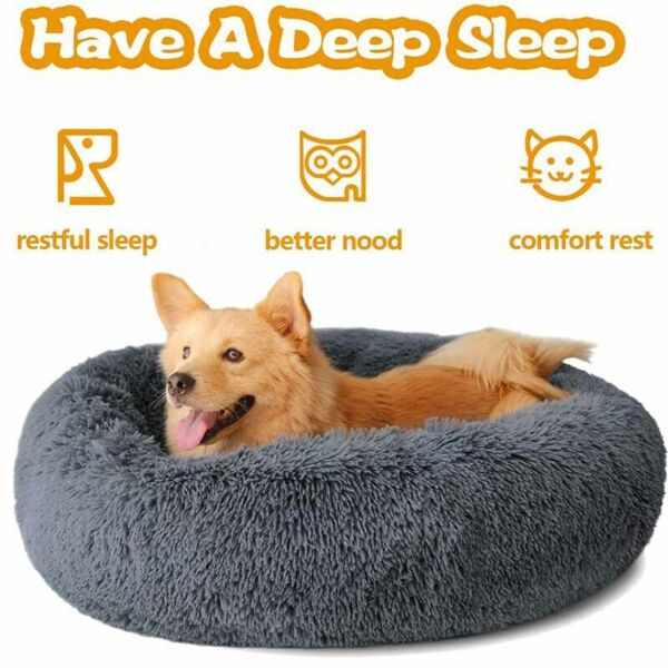S XXL Super Soft Dog Bed for Small Large Dog Sofa Plush Calming Washable Warm $37.99