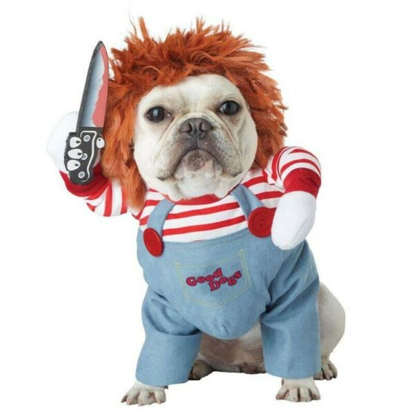 Deadly Doll Halloween Scary Dog Costumes Funny Pet Clothes $13.00