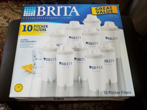 NEW IN BOX BRITA REPLACEMENT WATER PITCHER FILTERS #766229 10 PACK