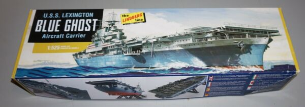 USS Lexington Gray Ghost Carrier 1 525 Lindberg Complete amp; Unstarted. $15.99