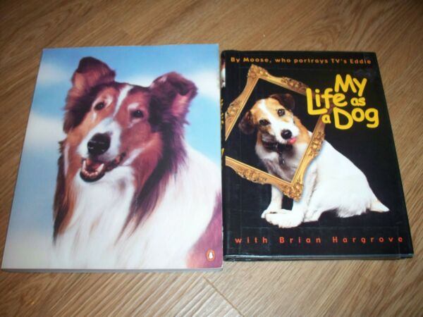 MY LIFE AS A DOG MOOSE EDDIE BRIAN HARGROVE LASSIE 50 YEARS COLLINS DOG BOOK LOT $22.99