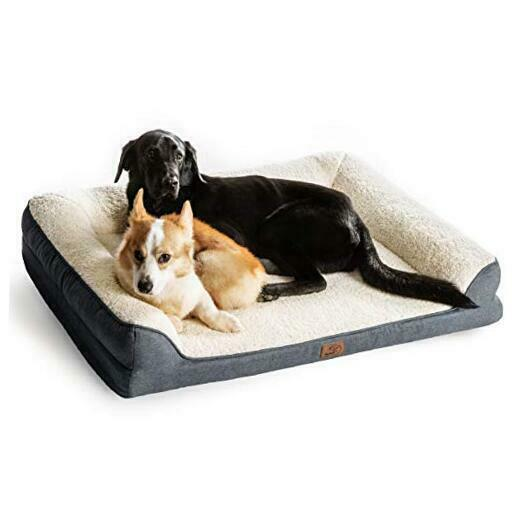 Orthopedic Pet Sofa Beds for Small Medium Large X Large Pack of 1 Grey