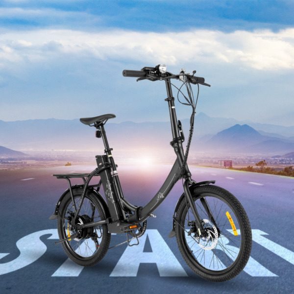 Electric Bike for Adult 20MPH Hybrid Ebike City Commuter Bicycle Folding USA $755.99