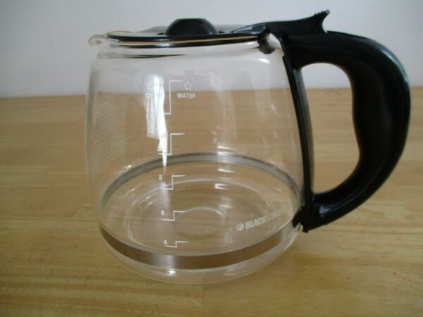 Black amp; Decker Replacement Carafe Coffee Pot 12 Cups Black Lid