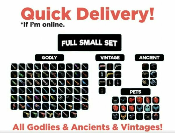 Roblox Murder Mystery 2 MM2 MEGA SMALL SET CHEAP ALL GODLY $20.00