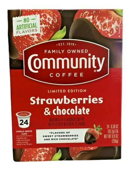 Community Strawberries amp; Chocolate Limited Edition K Cup Keurig Coffee Pods 24
