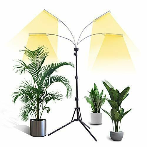 Grow Light with Stand Tri Head LED Grow Lights for Indoor Plants Full Spectrum $33.75