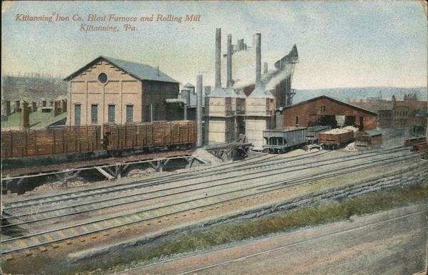 1911 Kittanning Iron Company Blast Furnace and Rolling MillPA Armstrong County $15.99
