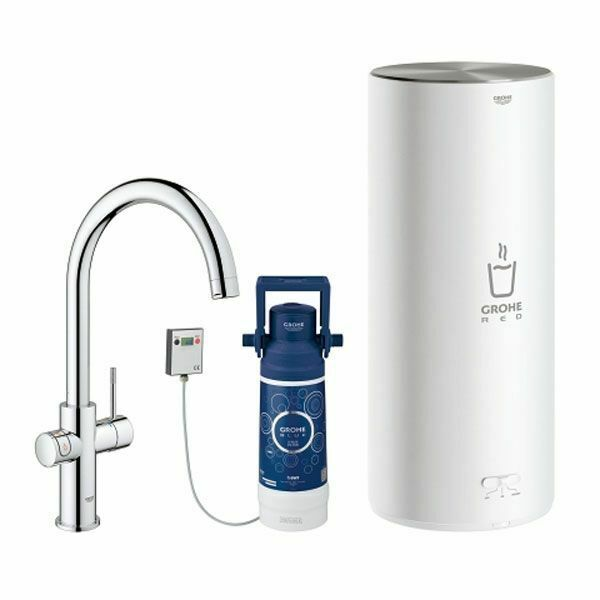 Grohe Fitting Chrome And Boiler Size L Red Stylus Duo $1522.55