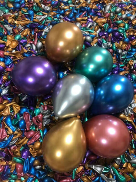 50 Mixed Metallic Balloons Chrome Shiny Latex 10quot; Thicken For Wedding Party Baby