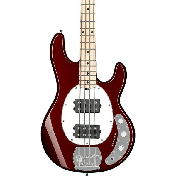 Sterling by Music Man StingRay Ray4HH Maple Fingerboard Bass Candy Apple Red LN