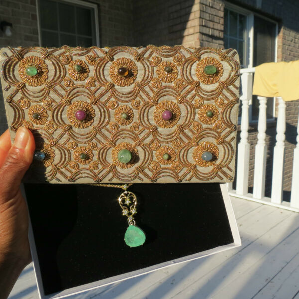DESIGNER RARE GENUINE VTG VAN CLEEF and ARPELS JEWELED BAG CLUTCH