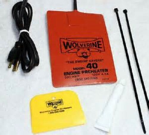 Wolverine 40-240V Engine Heater Oil Pan Tank Heater  500 Watt  220240 Volt