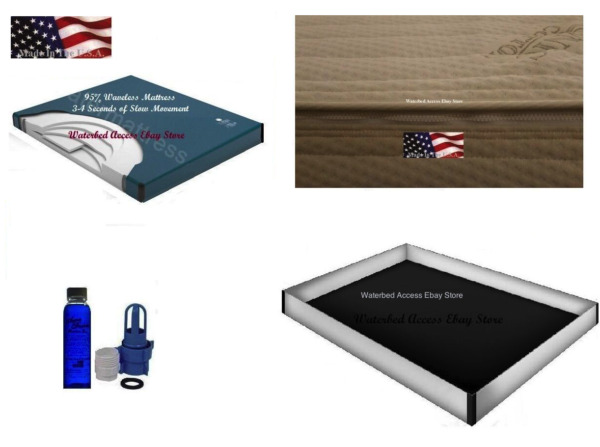 Queen 95% WATERBED MATTRESS with Cotton Zipper cover & 12 Mil Safety Liner
