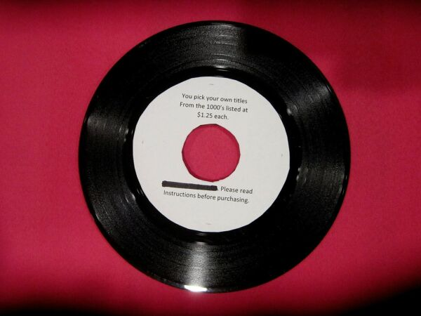 Original Rock Soul Pop 45 rpm's from 50s to 80s - 1.25 ea (MINIMUM 5)