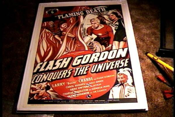 FLASH GORDON CONQUERS UNIVERSE CH 6 MOVIE POSTER 1940 LINEN SERIAL BUSTER CRABBE