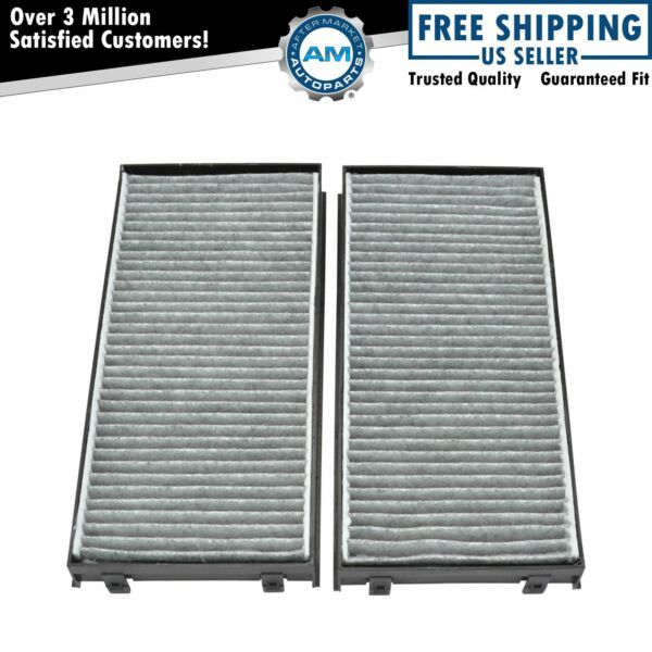 Carbon Style Interior Blower Cabin Air Filter Pair Set for BMW X5 08-11 BMW X6