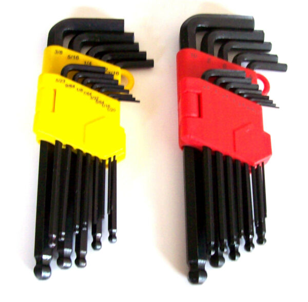 26pc GOLIATH INDUSTRIAL ALLEN BALL POINT END LONG ARM HEX KEY WRENCH SET SAE MM