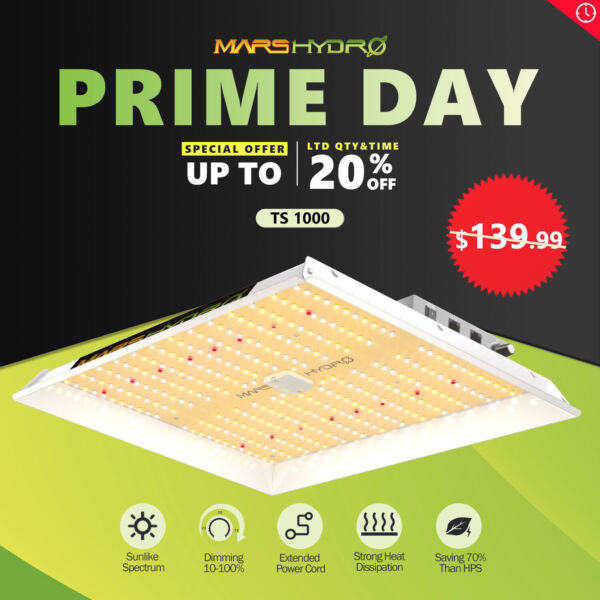 Mars Hydro TS 1000W Led Grow Light for Indoor Plant Full Spectrum Veg Flower IR