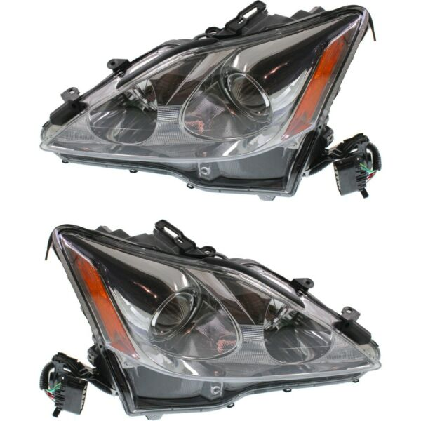 Headlight Set For 2006 2008 Lexus IS250 IS350 Left and Right With Wiring Harness