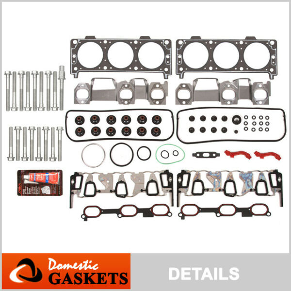Fits 05-09 Chevrolet Equinox Pontiac Torrent 3.4L OHV Head Gasket Head Bolts Set