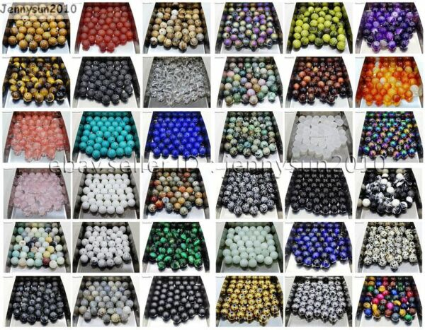 Natural Gemstone Round Spacer Loose Beads 4mm 6mm 8mm 10mm 12mm Assorted Stones $1.20