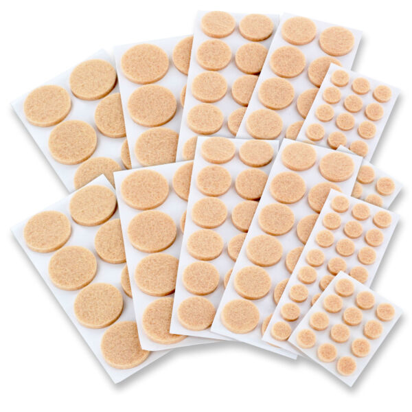152 Self Adhesive Chair Sofa Table Furniture Floor Felt Round Protector Pads $6.88