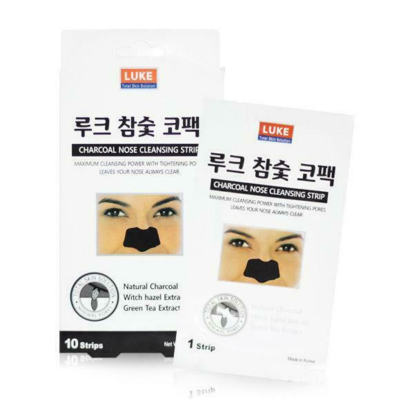 LUKE Charcoal Nose Pore Cleansing Strips - 10 Sheets (1 Pack)