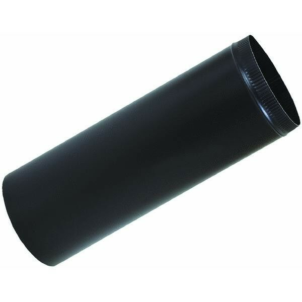 Black Wood Stove Single Wall Snap Together Pipe 4