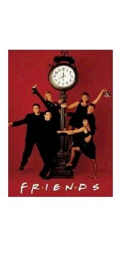 FRIENDS POSTER CLOCK CAST 27x39 Jennifer Aniston Cox Kudrow LeBlanc Perry
