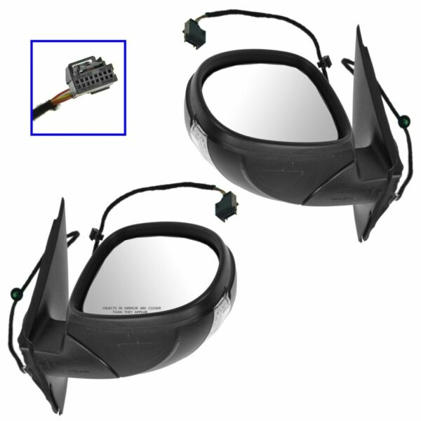 Mirror Power Signal Heated Left & Right Side Pair for Volkswagen Tiguan