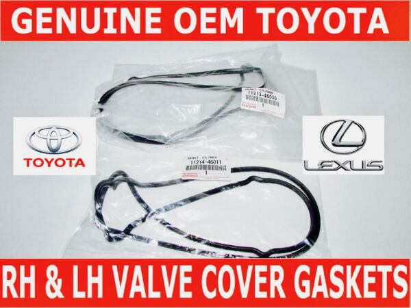 NEW GENUINE LEXUS OEM VALVE COVER GASKET SET RH & LH 11213-46030 11214-46011 2JZ