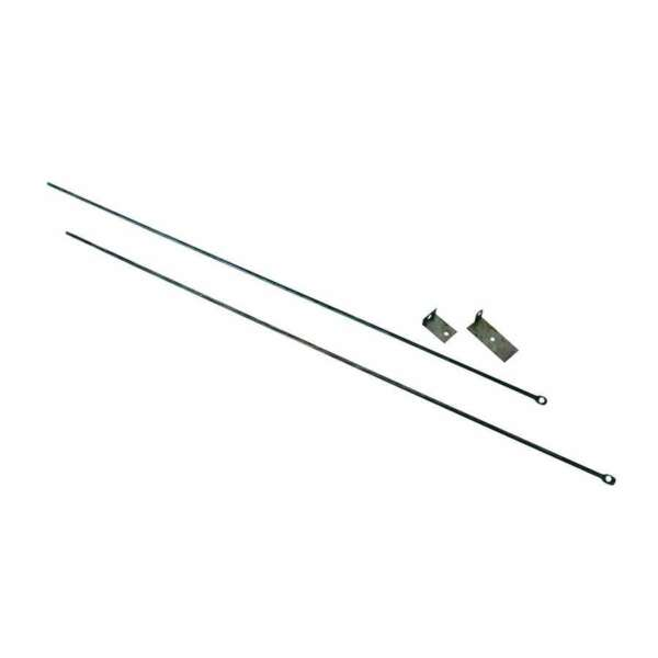 Uniflame Fireplace Curtain Rod Kit 32#x27; To 58#x27; Long C 6800