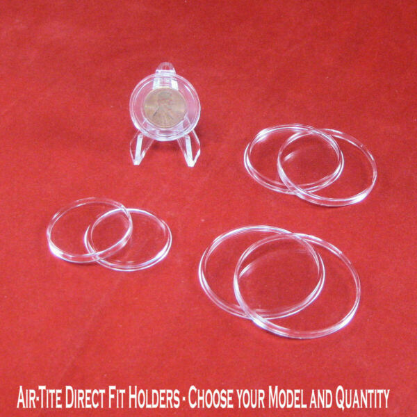 Airtite Brand Coin Holder Capsules  - Choose Your Direct Fit Model and Quantity