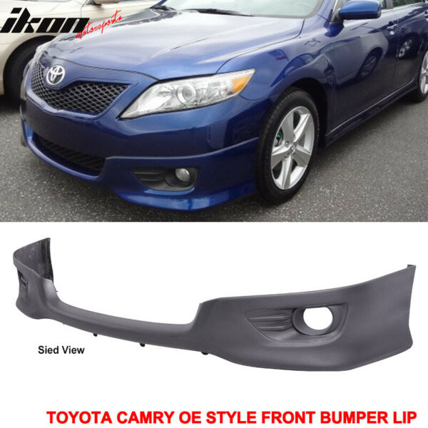 Fits 10-11 Toyota Camry OE Style Front Lower Bumper Valance Spoiler Lip PU