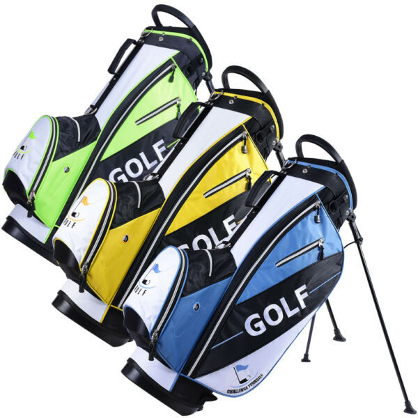 Golf Carry Cart Bag 14-Way Dividers Stand Set Kit with Rain Hood 600D 7 Pockets
