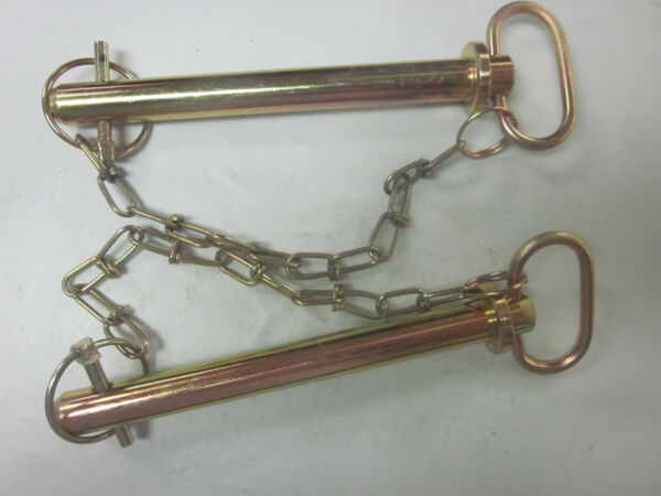 2 TRACTOR TRAILER 3 4quot; X 7 3 8quot; HITCH PIN CHAIN CLIP LYNCH RECEIVER TOW LOCK $19.99