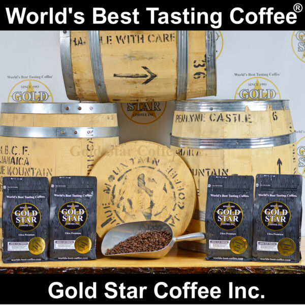 Jamaica Jamaican Blue Mountain PeaBerry - 4 lb. World's Best Tasting Coffee