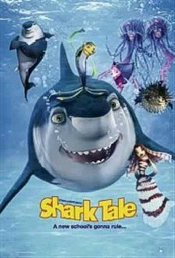 SHARK TALE OCEAN CAST 27x39 MOVIE POSTER Will Smith NEW ROLLED