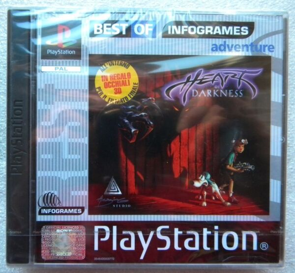 HEART OF DARKNESS PS1 PLAYSTATION ONE  PAL ITALIANO