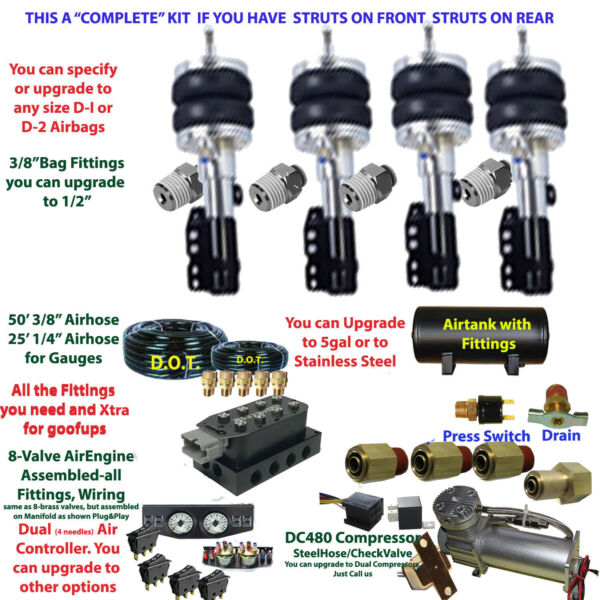 B FBS HON 04 3 Honda Plug and Play FBSS Complete Air Suspension s