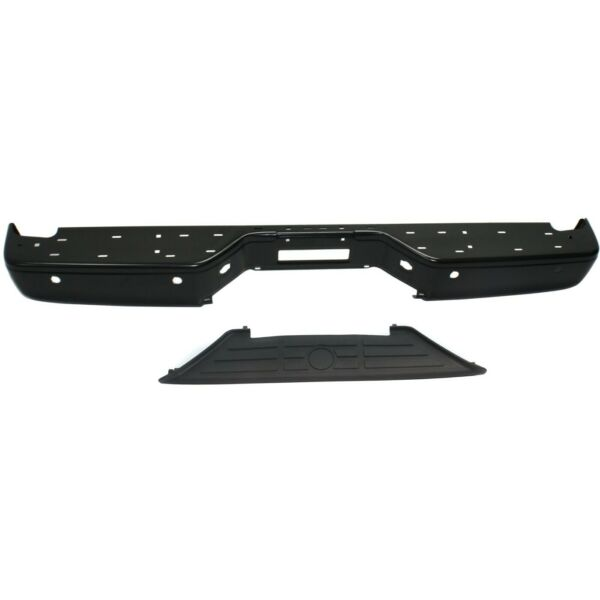 Step Bumper Kit For 2004 2014 Nissan Titan Rear 2pc With Bumper Step Pad