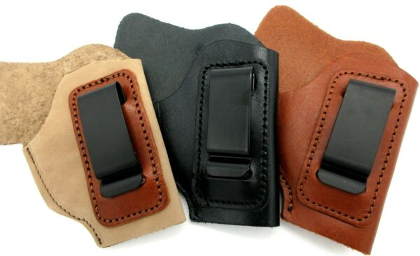CEBECI Brown Black Tan Leather IWB AIWB Holster for BABY AUTOS Choose GunColor