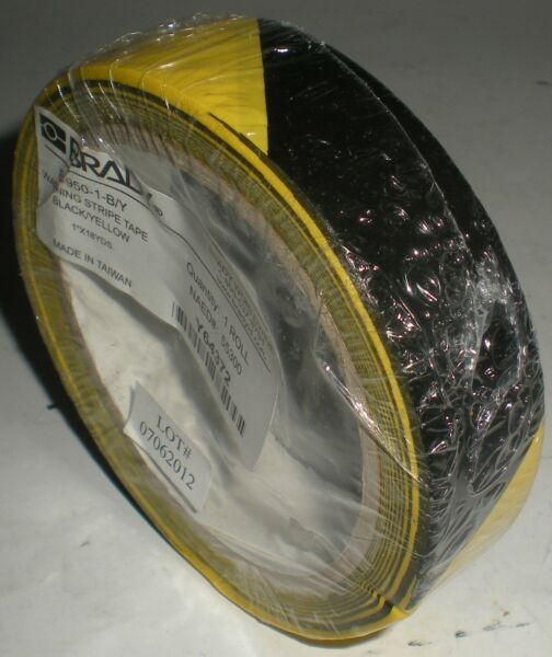 CAUTION TAPE BRADY 55300 WARNING STRIPE CHECK VINYL YELLOW B-946 1
